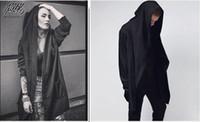 Hommes Cardigan Printemps Automne Sweat à capuche Black Wizard Gris Cape-vêtement Hommes Rue Swag Sweats à capuche Loose Women Tops manches longues