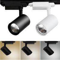 2 pcs COB 20 W Led Rail de lumière en aluminium Rail de plafond Éclairage sur rail Spot Rail Spotlights Remplacer Lampes Halogènes AC220V