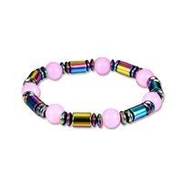 Pink Weight Loss Stone Magnetic Therapy Slimming Bracelets H...