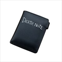 Anime Death Note Simple y Cool Black PU Monedero / Penny Wallet con botón