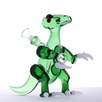 Glass Bubbler Dino Rig With White Claws Glass water pipes Gr...