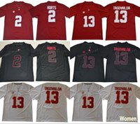 698fdaeb308 13 Tua Tagovailoa Jersey 2 Jalen Hurts Men Women Youth Alabama Crimson Tide  Football Jerseys Black Red White