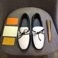 32f61442d5e8 Neue Designer Luxus Marke Mode Männer Mann Casual Peas Schuhe Flache Leder  Mesh Patchwork Trainer Mode