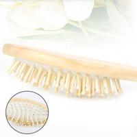 Drewniane Bambusowe Włosy Pędzle Pielęgnacja Beauty Spa Massager Germasza Zdrowie