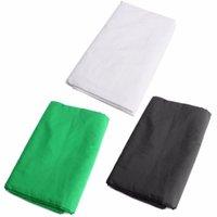 3 couleurs noir vert blanc2x3m mousseline coton photographie arrière-plan arrière-plan