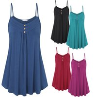 2018 New Womens Ladies Sexy Plain Sleeveless Strappy Buttons...