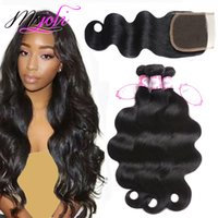 Brazilian virgin human hair weave unprocessed hair body wave...