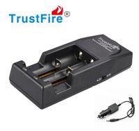Original Trustfire TR001 2-Slot Carregador De Bateria De Lítio para 14500 16340 18500 18650 + carregador de carro 30 pçs / lote