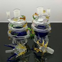Multi color spiral Panlong glass water bongs Wholesale Glass...