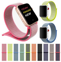 Banda al por mayor para Apple Watch Series 4/3/2/1 38MM 42MM Nylon Suave Correa de Repuesto Transpirable Sport Loop para iwatch 40MM 44MM