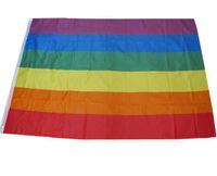 100 قطع rainbow flag 3x5FT 90x150 سنتيمتر مثليه المثليين المثليين البوليستر العلم راية البوليستر الملونة قوس قزح العلم للزينة 3x5ft