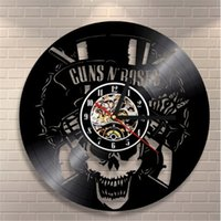 Guns n 'Roses Rock Band Vinyl Record Orologio da parete creativo Modern Home Decor Personality Room Furnishing Clock (Dimensioni: 12 pollici, Colore: Nero)