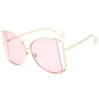 2019 Marca Cat Eye Mulheres Sunglasses Pérola Decoração Legs Fashion Square Sun Glasses Ladies Gradiente Limpar Shades UV400 W13