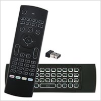 X8 Backlight MX3 Mini teclado con aprendizaje IR Qwerty 2.4G control remoto inalámbrico 6Axis Fly Air Mouse retroiluminado Gampad para TV Box MQ50