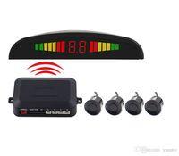 Sensores de aparcamiento inalámbricos LED para vehículos PZ303-W PZ300-W 433 MHZ Sonda de visión trasera Bibi Sound 4 Sensores DHL gratuitos
