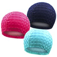 Men and women swimming cap PU coated waterproof and ear comf...