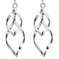 S925 Sterling zilveren oorbellen voor vrouwen groothandel mode-sieraden bohemia kwast dubbele twist htot mode vrij van verzending