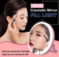 RK16 Multi-função LED espelhos 4 Níveis Quente e Branco Luz Espelho de Maquilhagem / Preenchimento de luz / com 40 LED 4 cores 10 pçs / lote DHL