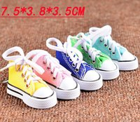 Canvas Shoes Key Chain Casual Shoes Key 8 Colors Chain Color...
