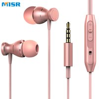 MISR MT5 Wired Earphone Magnet With Mic Microphone Stereo Me...