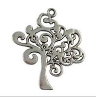 50 stücke Vintage Silber Bronze Baum Des Lebens Legierung Baumeln Perlen Charms Anhänger Für Armband Schmuck Erkenntnisse Komponenten Zubehör Geschenke NEU