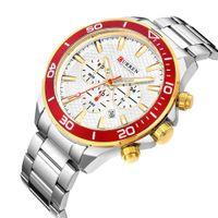 Mode Sport Edelstahlband Uhren Für Mann CURREN 2018 Neue Chronograph Wasserdicht 30 Mt Armbanduhr Relogio Masculino