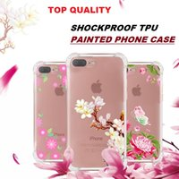 Super Anti- knock Soft TPU Flower Painted Phone Case For iPho...