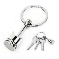 피스톤 키 체인 Keyfob 키 링 패션 금속 홀더 금속 피스톤 자동차 키 체인 Keyfob 엔진 Fob 키 체인 반지 keyring 실버