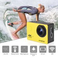 H16 4K WIFI Action Camera 16MP 1080P Full HD 170 ° سوبر زاوية واسعة عدسة للماء يمكن ارتداؤها الرياضة كامارا