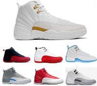 size 40 23c77 4abfa Nike Air Jordan 12 AJ12 Retro Nuevos zapatos de baloncesto 12 calientes OVO  White TAXI Flu Game gamma azul Playoff flint Francés azul Cool Grey 12  classic ...
