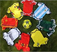 8 style 2018 Russia World Cup Baby kids football romper 100%...
