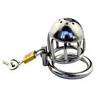 Cage à oiseaux en métal en acier inoxydable avec dispositif de ceinture de chasteté pour hommes MINI # R45