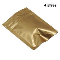 Oro opaco di alluminio Auto sigillabili sacchetti di imballaggio per le spezie Cookies Dadi mylar della confezione Pouch serrature con chiusura a zip
