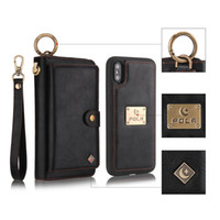 Fashion Zipper Wallet Phone Case for iPhone X 8 7 6 Plus and...
