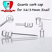 Kuvars Carb Cap fit için 15.5mm 19.5mm Enail kuvars catb kap kolu bir hava delik dab petrol kuleleri