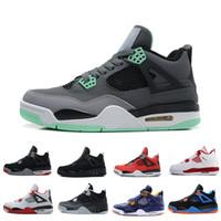 Gros Hommes Chaussures 4-5-6-7-8-11-12-13 Basketball Hommes Pas Cher 4s Bottes Authentique En Ligne Pour Vente Sneakers Hommes Sport US 8-13