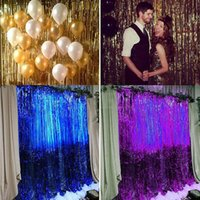 3ftX10FT Metalic Gold Fringe Curtain Photo Backdrop Hanging curtain Window Doorway Decor Curtain Birthday Supplies 5 шт. / Серия DEC122