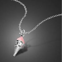 Collana femminile in argento sterling 925 ciondolo gelato design solido argento clavicola catena ragazze fascino gioielli regalo di compleanno
