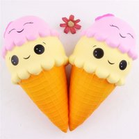16 см Jumbo Squishy Ice Cream Cone Smile Squishies Toy Big Scent Slow Rising Food DHL Бесплатная доставка SQU034