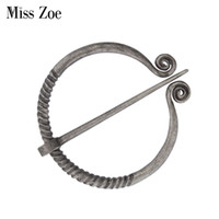 Miss Zoe cedo Medieval Broche Viking Idade Irlanda Norse Pins Scarves Shawls Casaco Manto Brooch Pin Retro Vintage Jóias Para Homens Mulheres