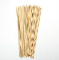 Pincho de bambú de madera 40 cm Palitos de bambú Brochette de bambú Desechable Grill Party Tornado Papa Patata Herramienta de madera Pinchos