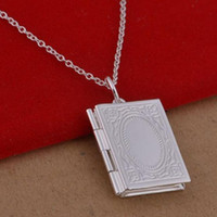 Wholesale book locket necklace buy cheap book locket necklace 2018 men women fashion book photo locket pendant beaded chain necklace gift jewelry aloadofball Choice Image
