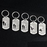 PAPA MOM À MON FILS À MA FILLE Porte-clés Personnalisé Custom Dog Dog Tags Pendentif Cadeau - N'oublie jamais Que Je t'aime