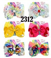 14 colors 8 in JOJO kid girl bow Rainbow star love unicorn e...