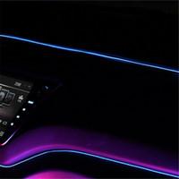 1 м гибкий неоновый свет автомобиля декор свет неоновые светодиодные лампы EL трос трубки газа атмосфера огни танцевальная вечеринка украшения
