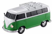 Altavoz colorido mini forma del coche del altavoz mini bus del altavoz de sonidos 10pcs / lot WS-266BT Bluetooth MP3 + disco de U + TF + función de FM