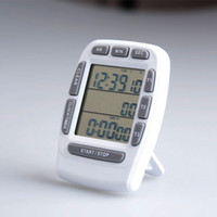 TFree shipping, three channel kitchen timer, LCD screen time...