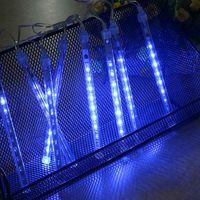 40pcs(5sets)30cm防水流星のシャワー雨の管はパーティーの結婚式の装飾のためのライトを導きました