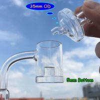 5mm Bottom XL Kernreaktor Quarz Banger Mit Glas Carb Caps 10mm 14mm 18mm Quarz Thermal Banger Nägel Für Bongs Oil RIgs