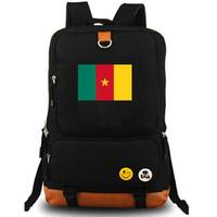 CMR ظهره الكاميرون Daypack حقيبة الأحمر أخضر أصفر العلم المدرسية الوطنية راية حقيبة قماش حقيبة مدرسية حزمة اليوم في الهواء الطلق